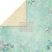Craft & You 12x12 Scrapbook Paper - Spring Garden 06 - SG06